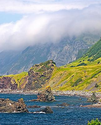View of the coastline at Gros Morne National Park in Newfoundland