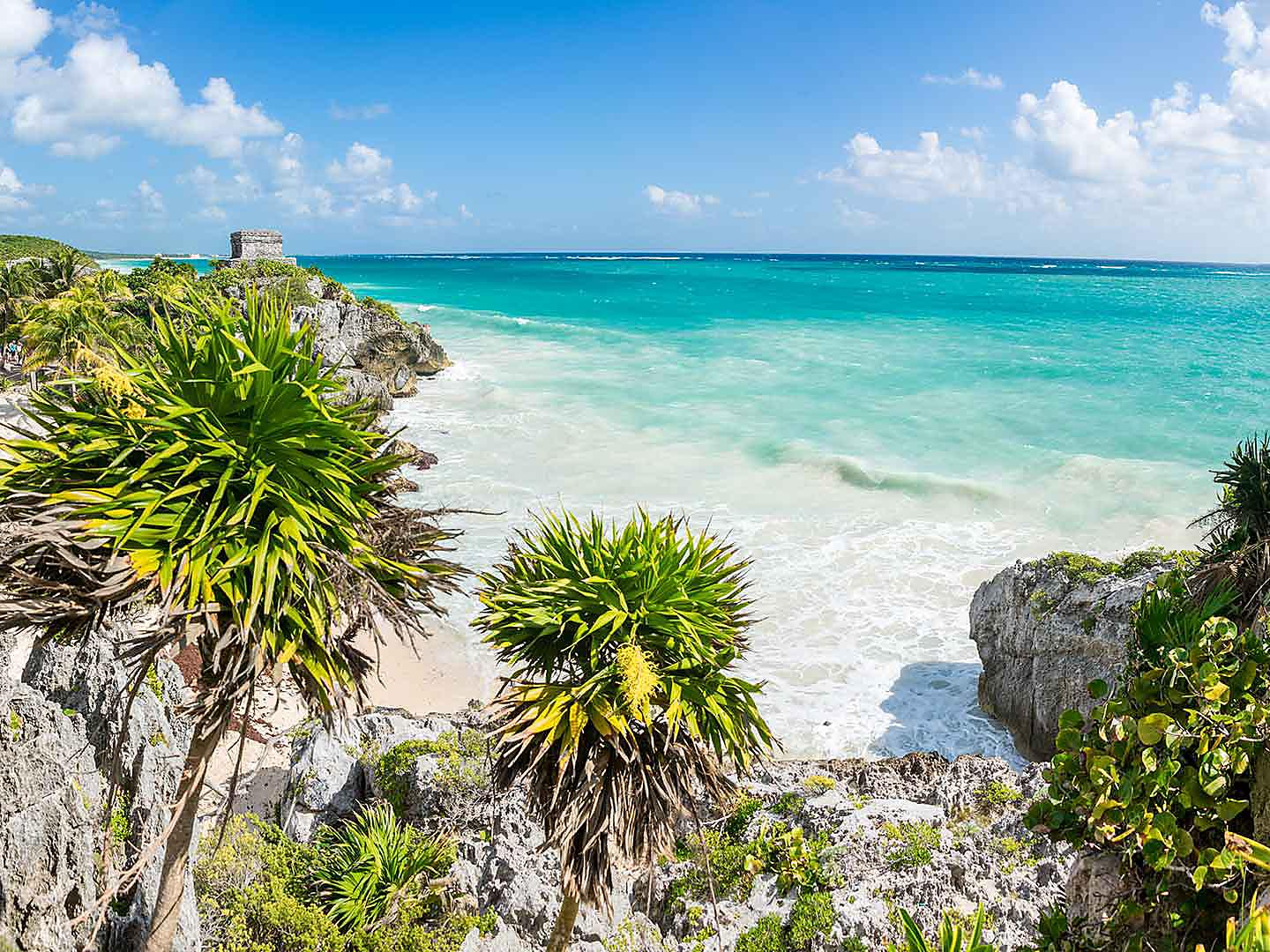 Cozumel, Mexico Tulum God Of Wind Temple Ruins Panoramic