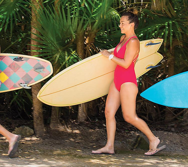 Family Ready to Surf in Cozumel Mexico