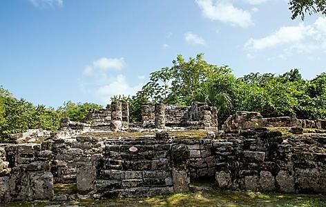 San Gervasio Ruins,  Maya Site, Cozumel, Mexico