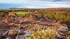 The rocky landscape of Kakadu National Park in Australia