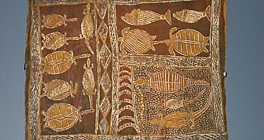 An example of aboriginal art in Australia