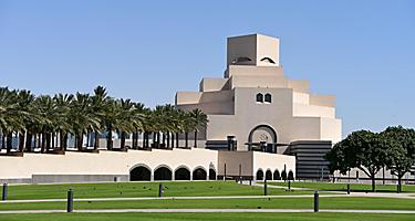 The geometric architecture of the Museum of Islamic Art in Doha, Qatar
