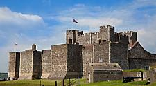 Exterior view of Dover Castle in Dover, England