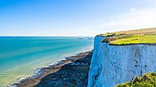 View of the white cliffs of Dover