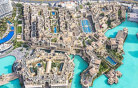 Aerial Views Of The City Dubai From Top Burj Khalifa Skyser