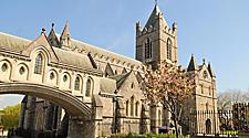 The Christ Church Cathedral in Dublin, Ireland