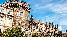 View of the Trong Tower of the Dublin Castle in Dublin, Ireland