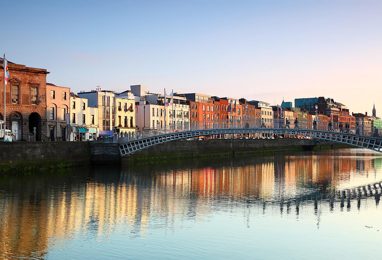 Ireland Dublin River Liffey Sunset