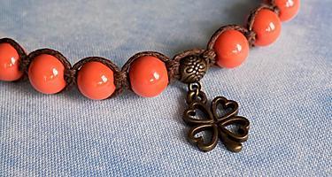 A clover leaf pendant souvenir from