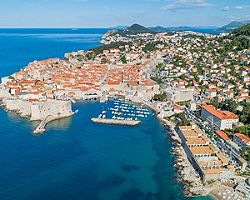 Croatia Banje Beach Coast Aerial