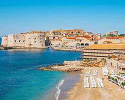Croatia Dubrovnik Banje Beach Coast Close Up
