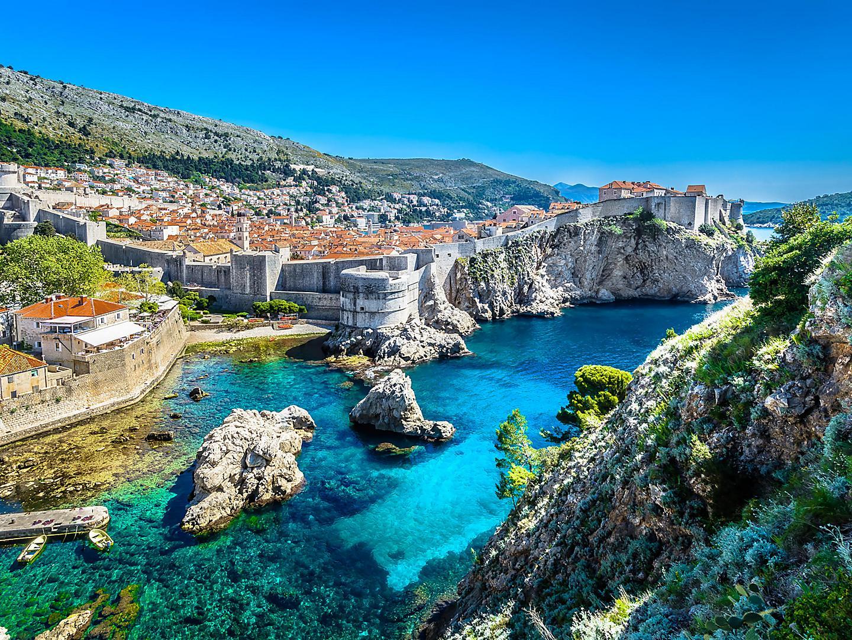 Dubrovnik, Croatia Aerial Cityscape