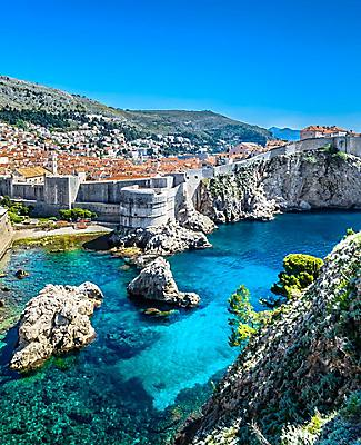 Aerial panoramic view of Dubrovnik, Croatia