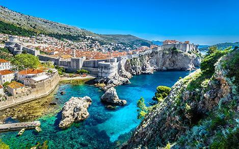 Aerial panoramic view of Dubrovnik, Croatia