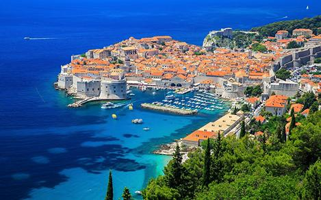 Scenic view in Dubrovnik, Croatia