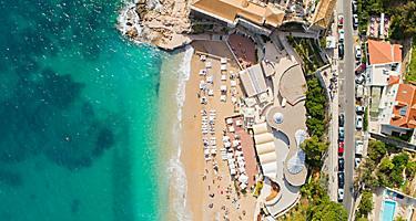 Croatia Dubrovnik Banje Beach Overhead