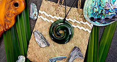 A greenstone pendant necklace