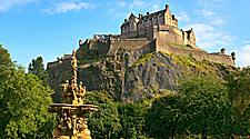 The Edinburgh Castle on Castle Rock in Edinburgh, Scotland