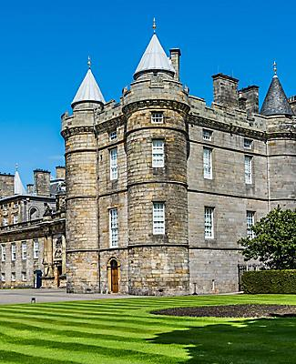 The Holyrood Palace in Edinburgh, Scotland