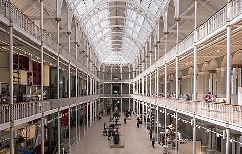 Interior view of the National Museum of Scotland