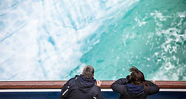 endicott arm dawes glacier passengers viewing over ship