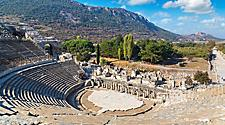 An ancient amphitheater in Ephesus, Turkey