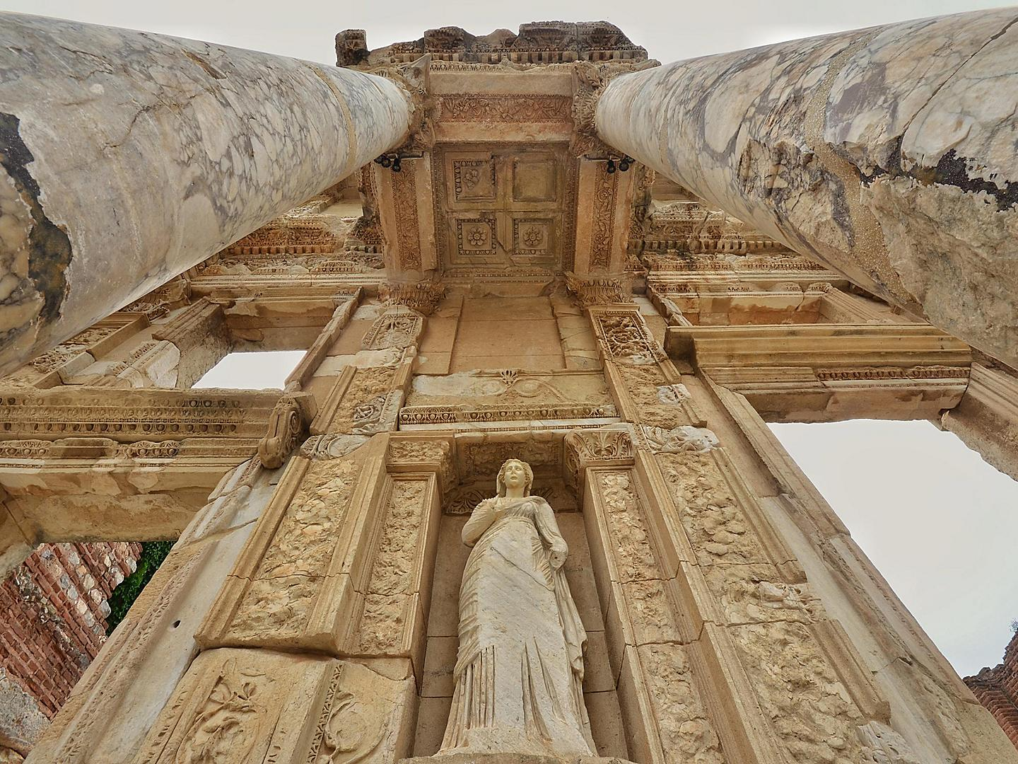 Ephesus (Kusadasi), Turkey, Celsus Library Close Up