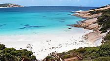 A white sand beach in Esperance, Australia