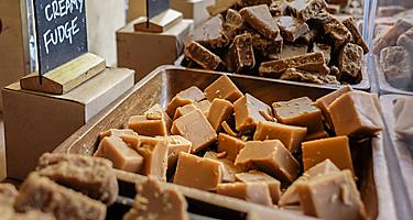 An assortment of fudge for sale