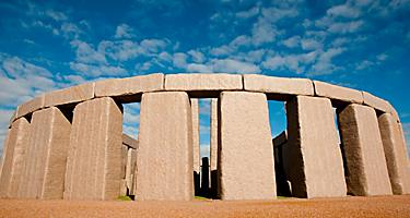 The full stonehenge replica in Esperance, Australia