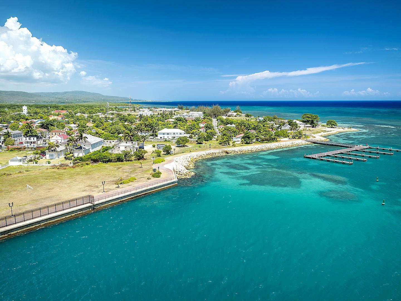 Falmouth, Jamaica, Port Aerial Coast
