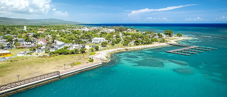Falmouth port in Jamaica island, the Caribbean
