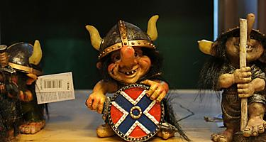 A small troll souvenir figurine in Norway