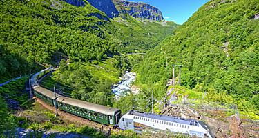 A train traveling through Norway
