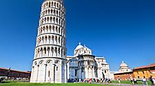 The Leaning Tower of Pisa in Italy