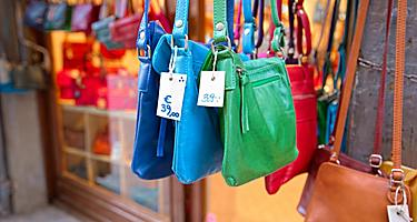Leather bags for sale in Florence, Italy