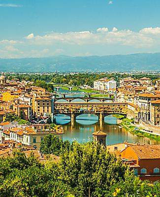 Aerial view of Florence, Italy