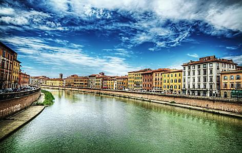 Pisa Lungarno in Pisa, Italy