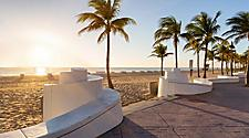 Promenade at a beach in Fort Lauderdale, Florida