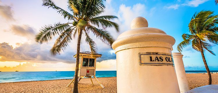 Las Olas beach in Fort Lauderdale, Florida