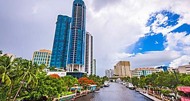 High rise building on Riverwalk, Fort Lauderdale