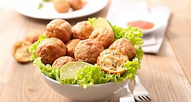 Accras de morue fish balls in Fort de France