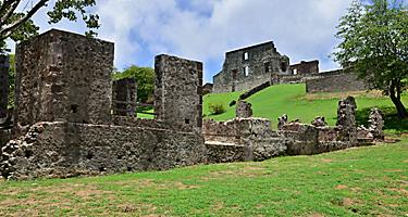 Chateau Dubuc Ruins in Fort de France, Martinique