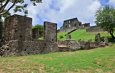 Chateau Dubuc Ruins in Fort de France, Martinique