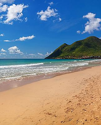 Le Diamont beach in Martinique, France