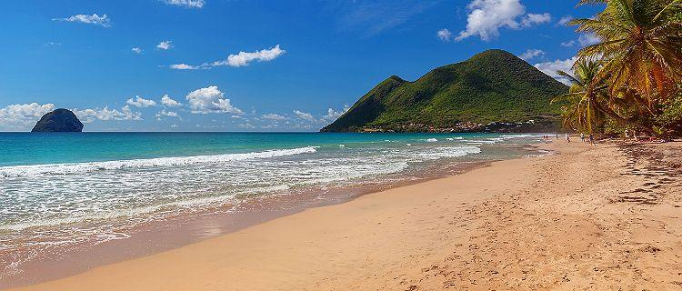 Le Diamont beach in Martinique, France