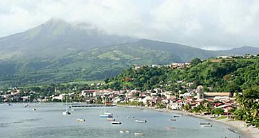 Coast of St. Pierre in Fort de France, Martinique