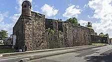 Walls of fort St. Louis in Fort de France, Martinique