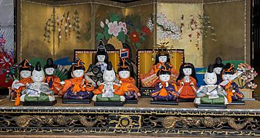 Ceramic Japanese dolls known as Hakata Ningyo from the 17th century found in Japan